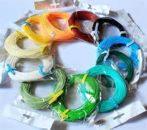 fly line in various colors